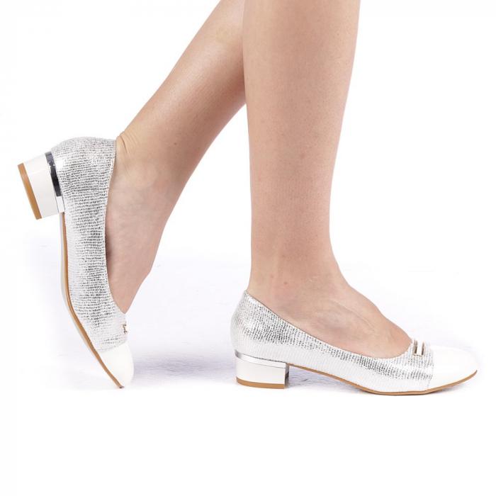 Pantofi dama Adekia albi 0