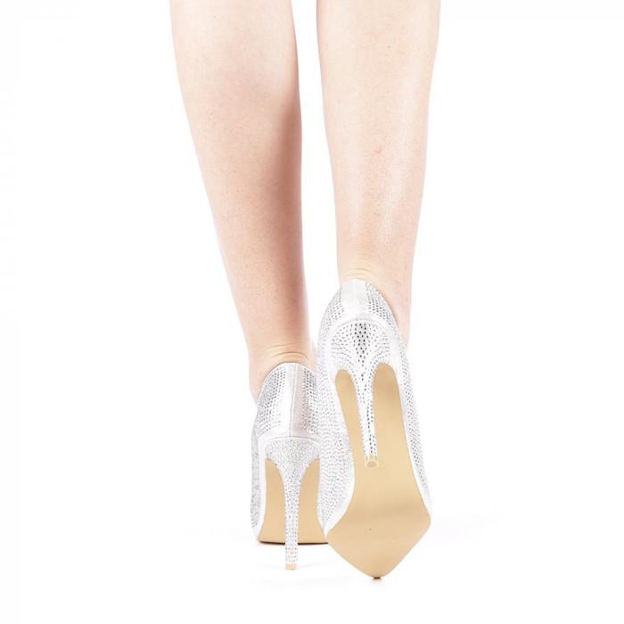 Pantofi dama Adripo argintii 3