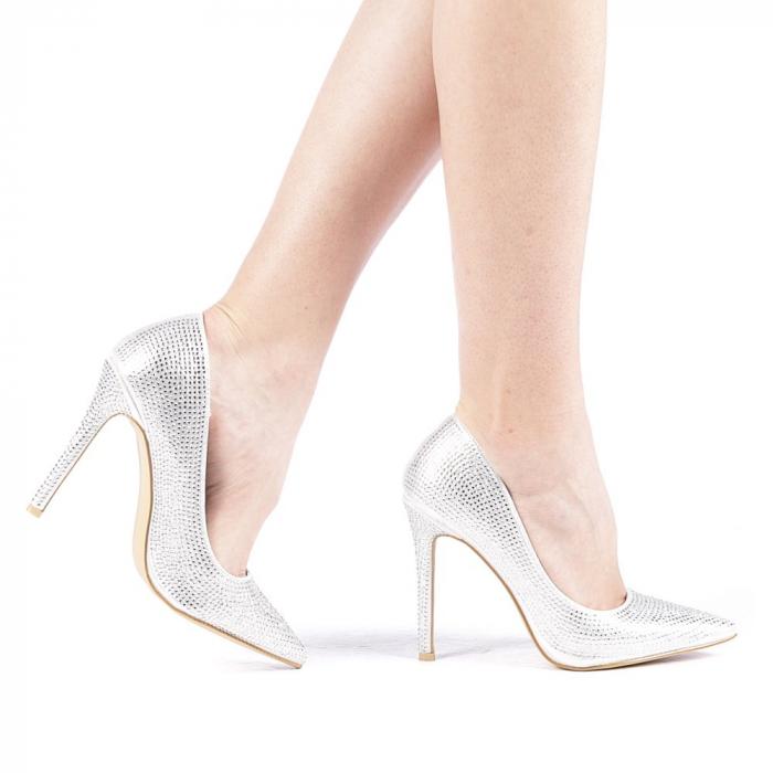 Pantofi dama Adripo argintii 0