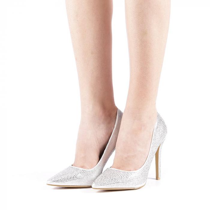 Pantofi dama Adripo argintii 2