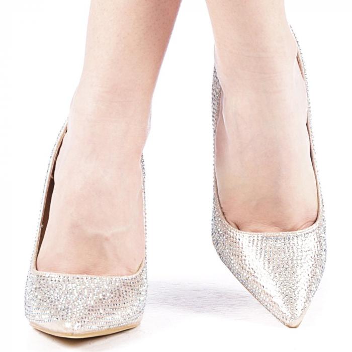 Pantofi dama Adripo aurii 1