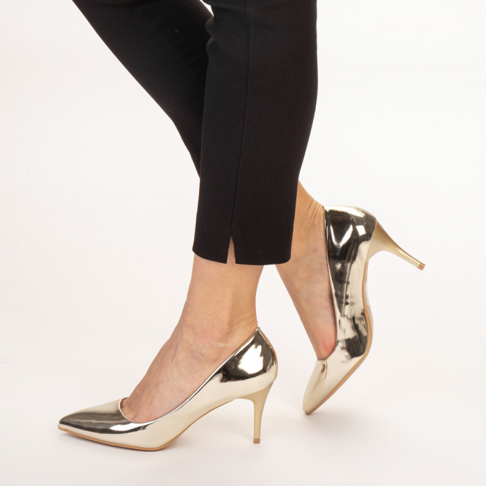 Pantofi dama Avice aurii 2