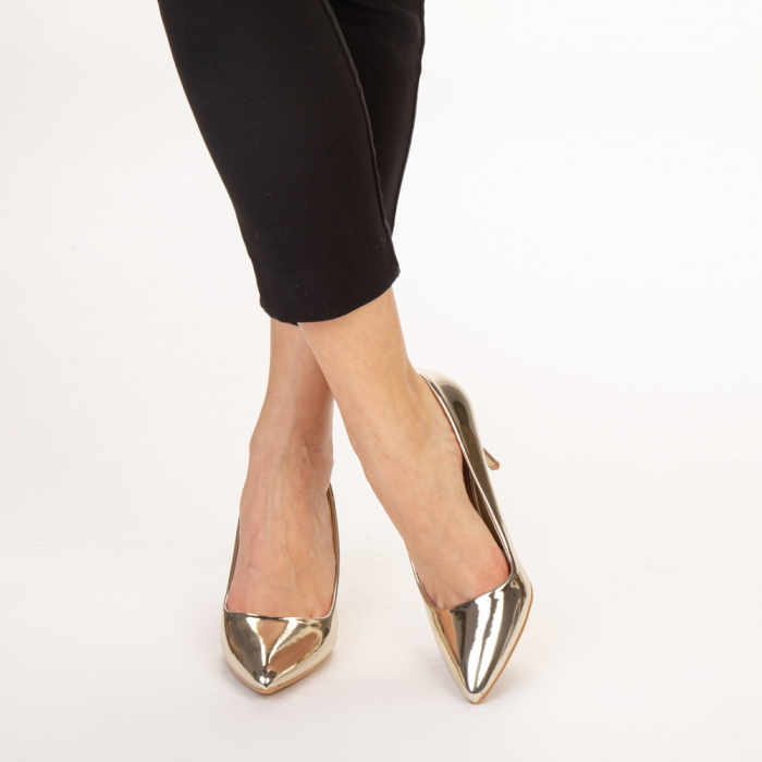 Pantofi dama Avice aurii 1