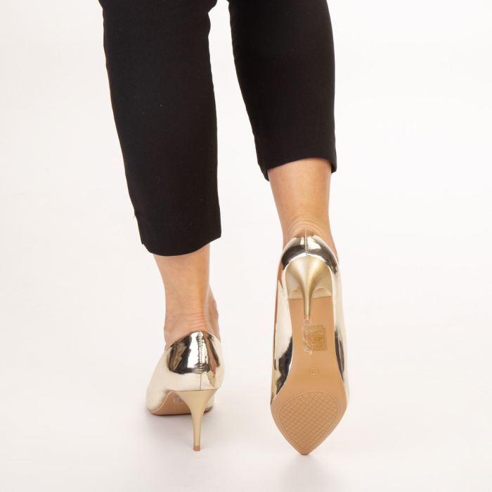 Pantofi dama Avice aurii 3