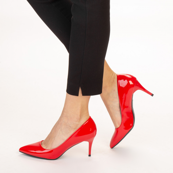 Pantofi dama Avice rosii 2