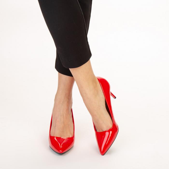 Pantofi dama Avice rosii 1