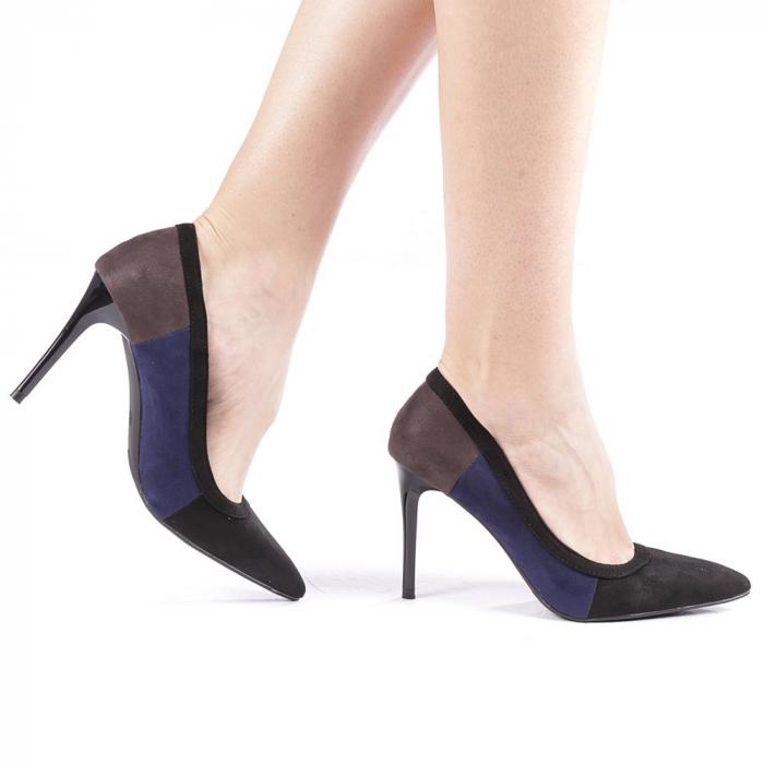 Pantofi dama Casandra gri 0