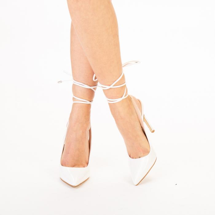Pantofi dama Davina albi 0