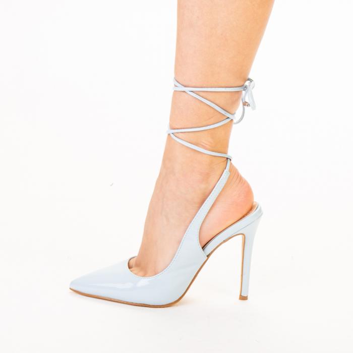 Pantofi dama Davina bleu 2