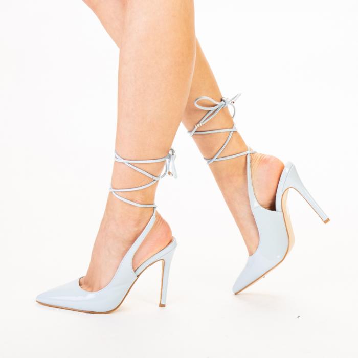Pantofi dama Davina bleu 1