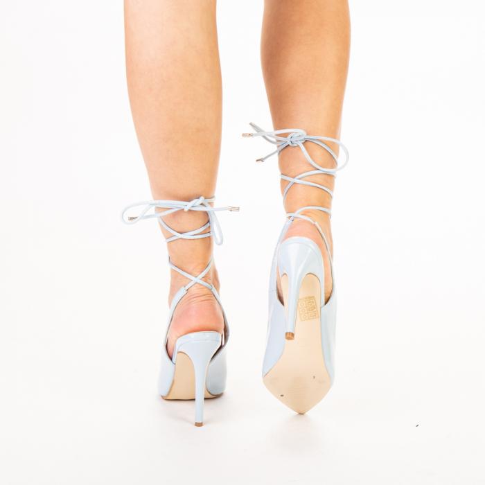 Pantofi dama Davina bleu 3