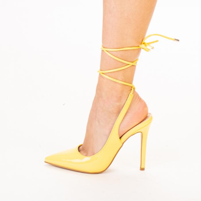 Pantofi dama Davina galbeni 2