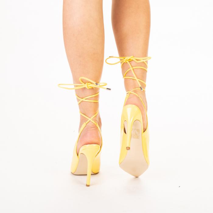Pantofi dama Davina galbeni 3