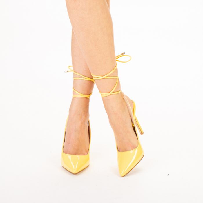 Pantofi dama Davina galbeni 0