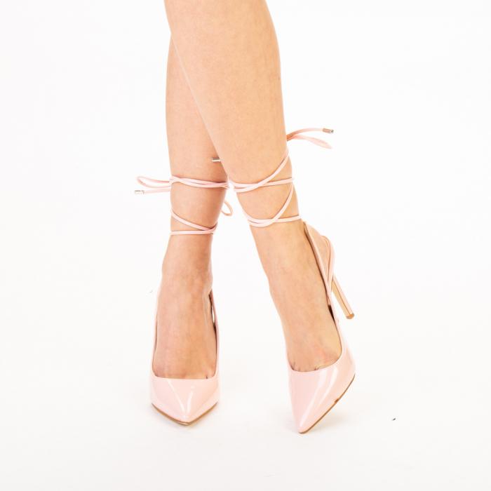 Pantofi dama Davina roz 0