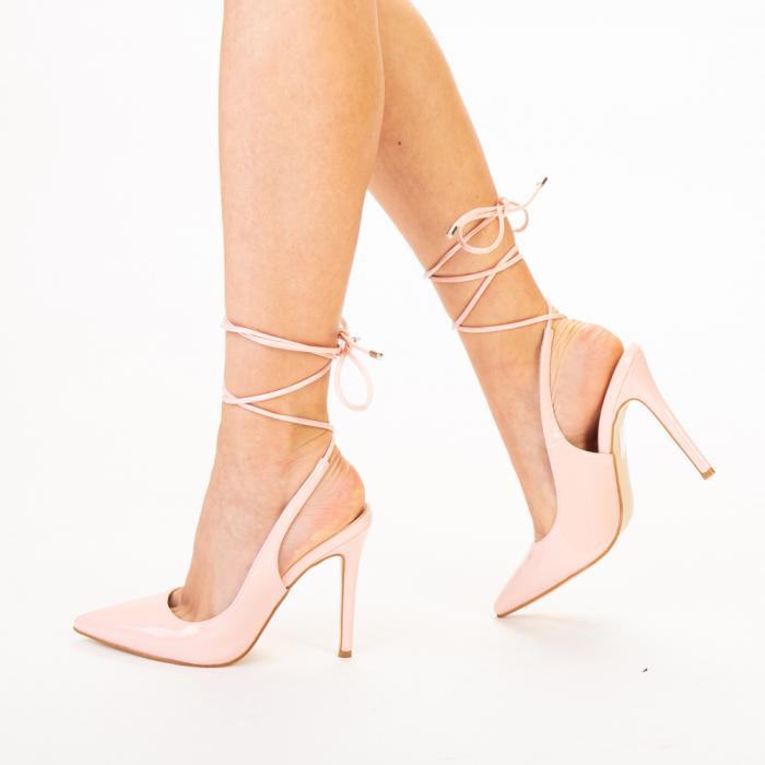 Pantofi dama Davina roz 1