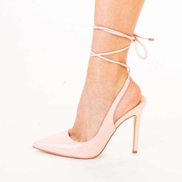 Pantofi dama Davina roz 2