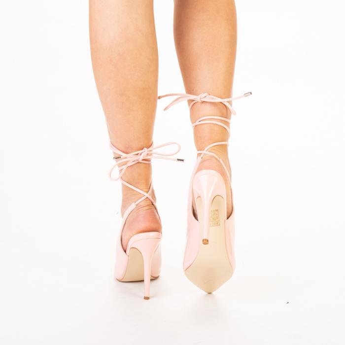 Pantofi dama Davina roz 3