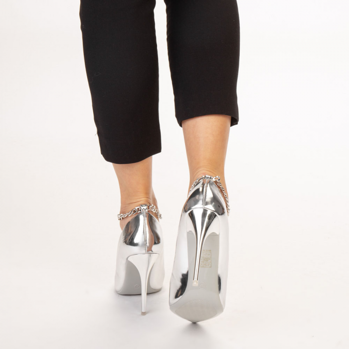 Pantofi dama Delir argintii 3