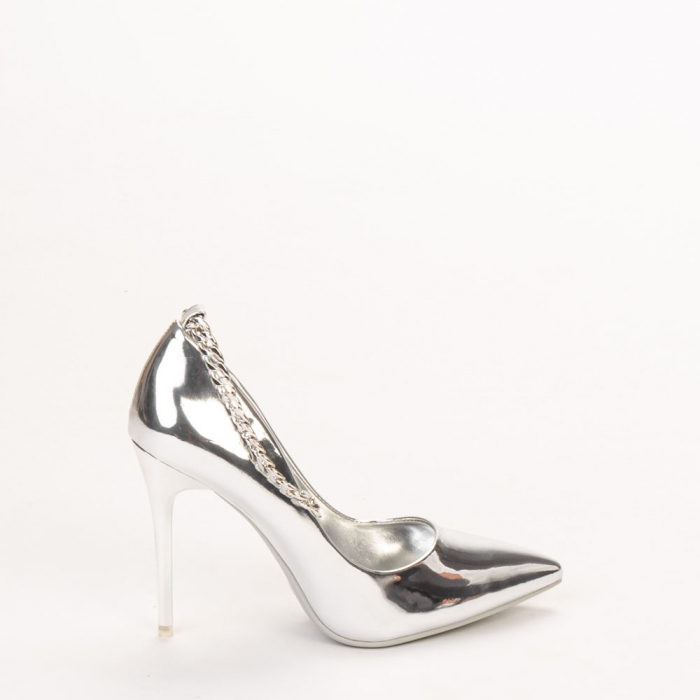 Pantofi dama Delir argintii 0