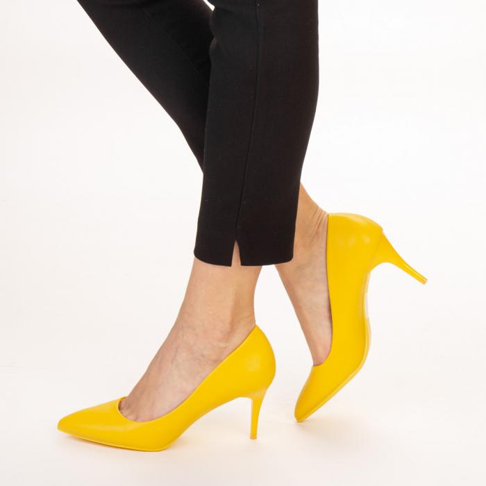 Pantofi dama Delora galbeni 2