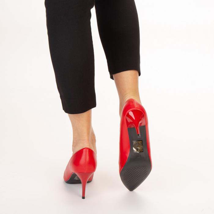 Pantofi dama Delora rosii 3