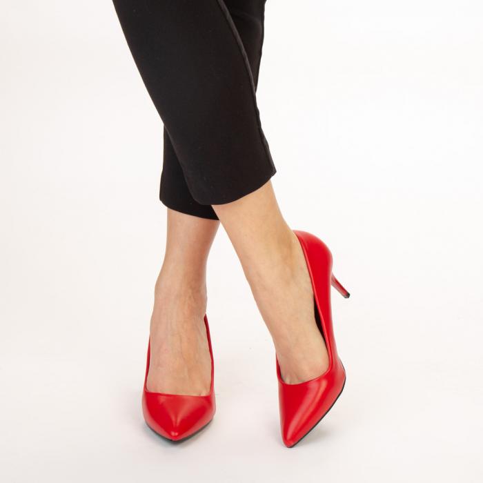 Pantofi dama Delora rosii 1