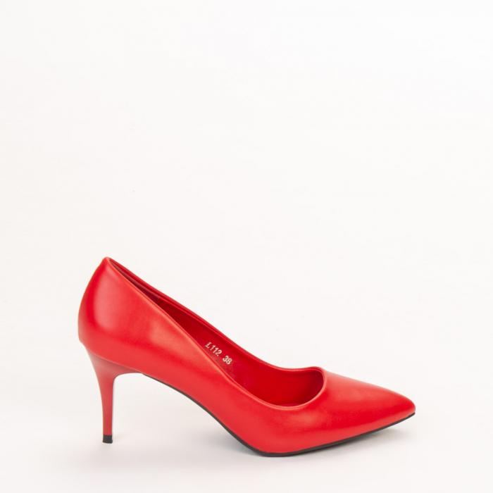 Pantofi dama Delora rosii 0