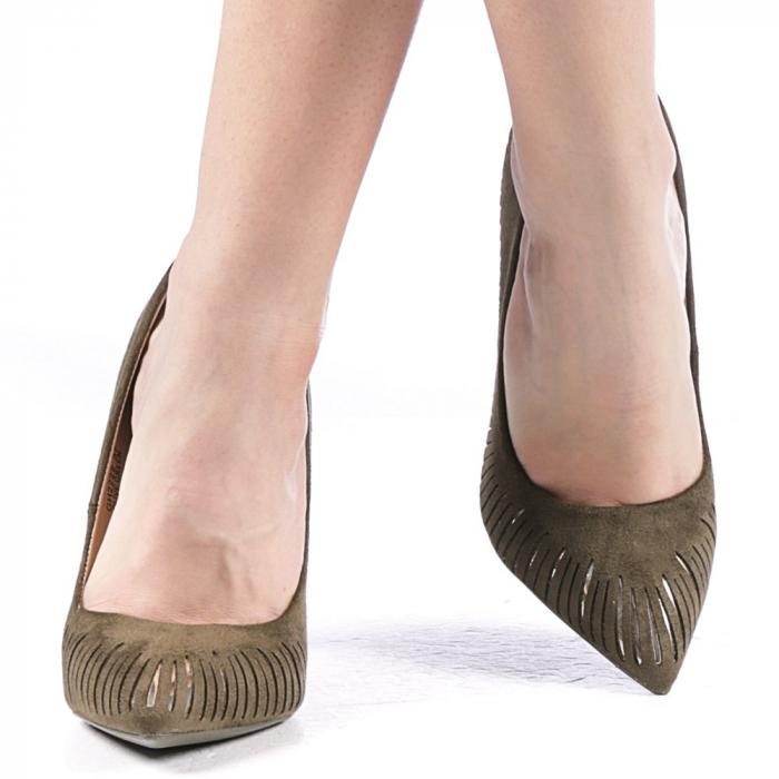 Pantofi dama Dena verzi 1