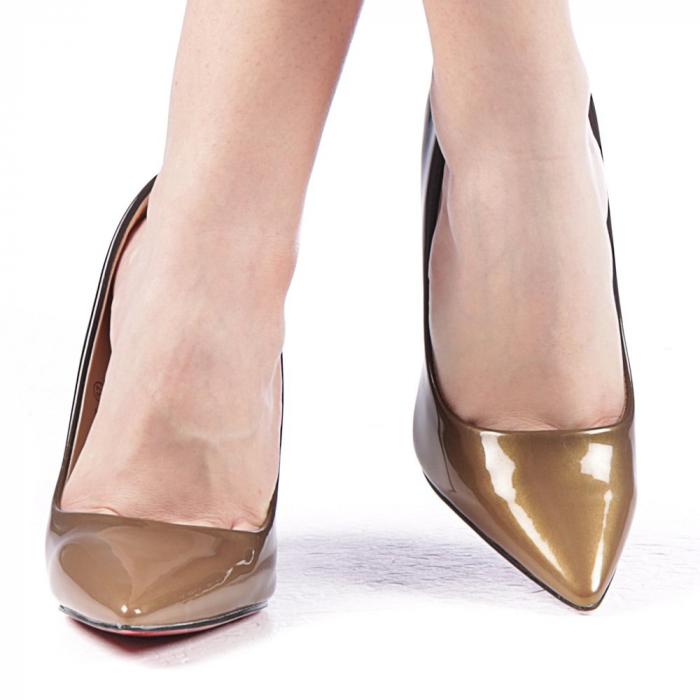 Pantofi dama Dillon aurii 1