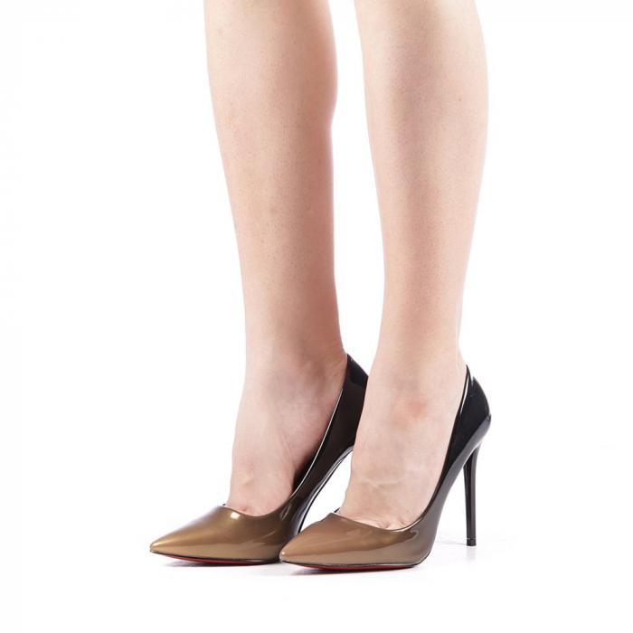 Pantofi dama Dillon aurii 2