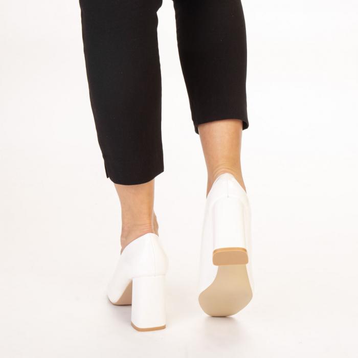 Pantofi dama Eloisa albi 3