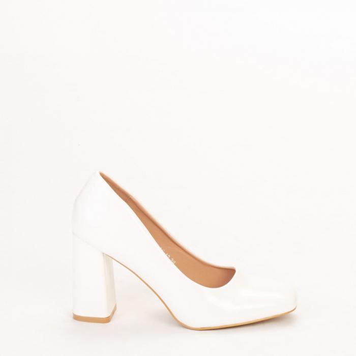 Pantofi dama Eloisa albi 0