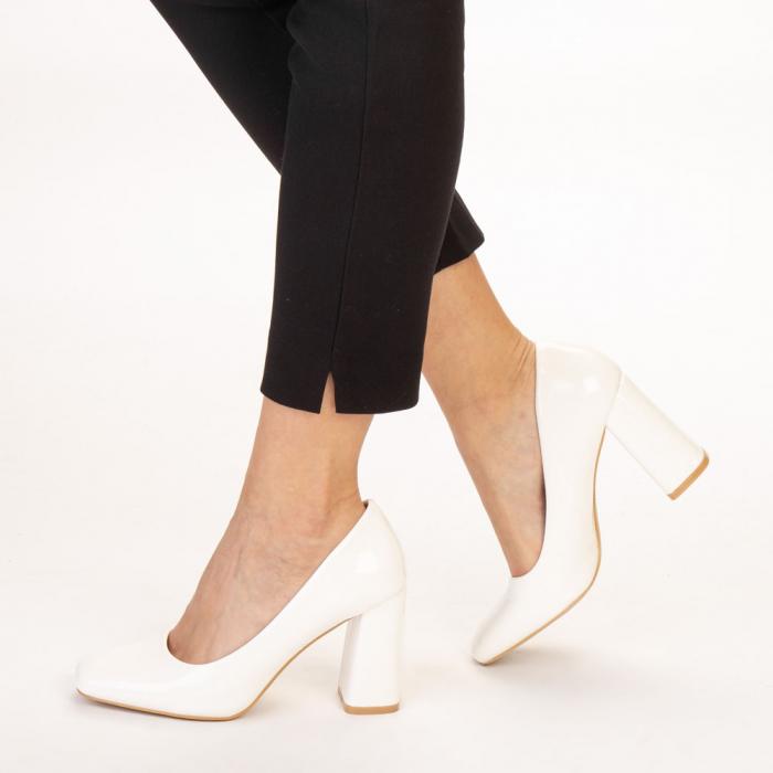 Pantofi dama Eloisa albi 2