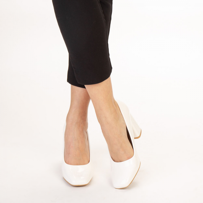 Pantofi dama Eloisa albi 1