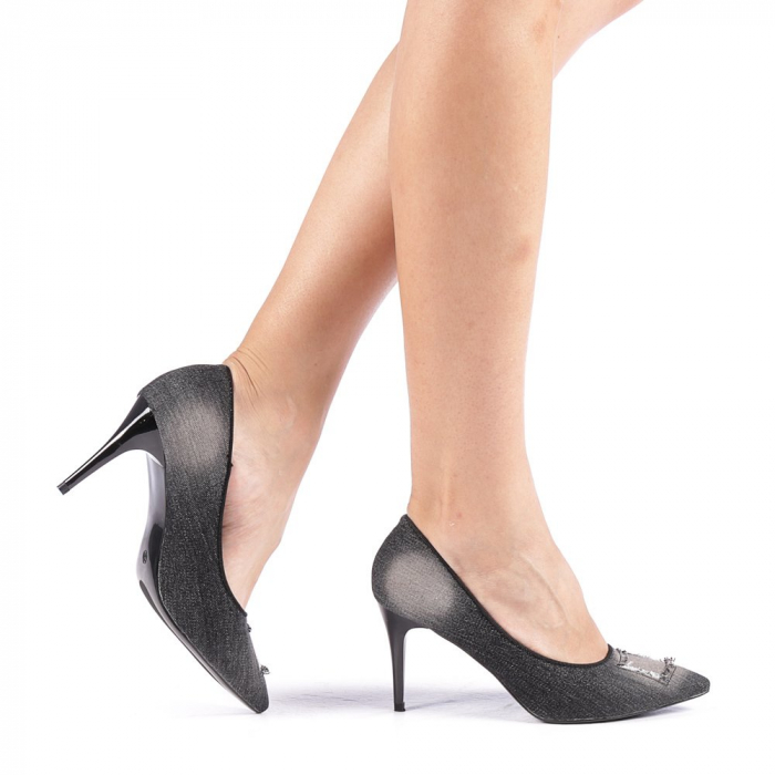 Pantofi dama Emira negri 0