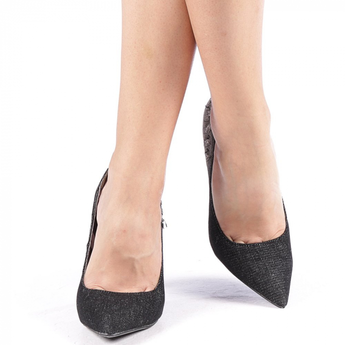 Pantofi dama Erica negri 4
