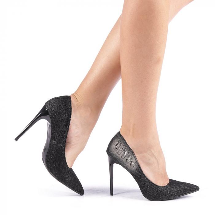 Pantofi dama Erica negri 0