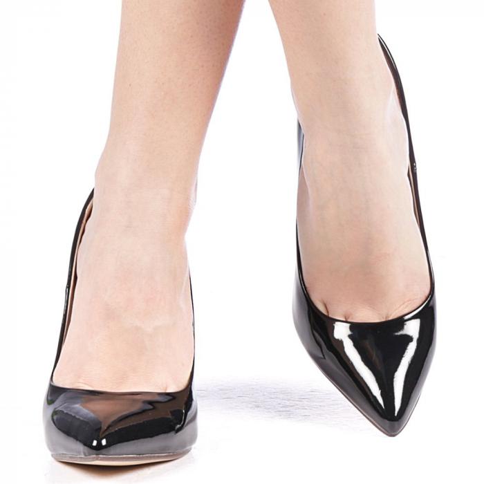 Pantofi dama Exoca negri 1