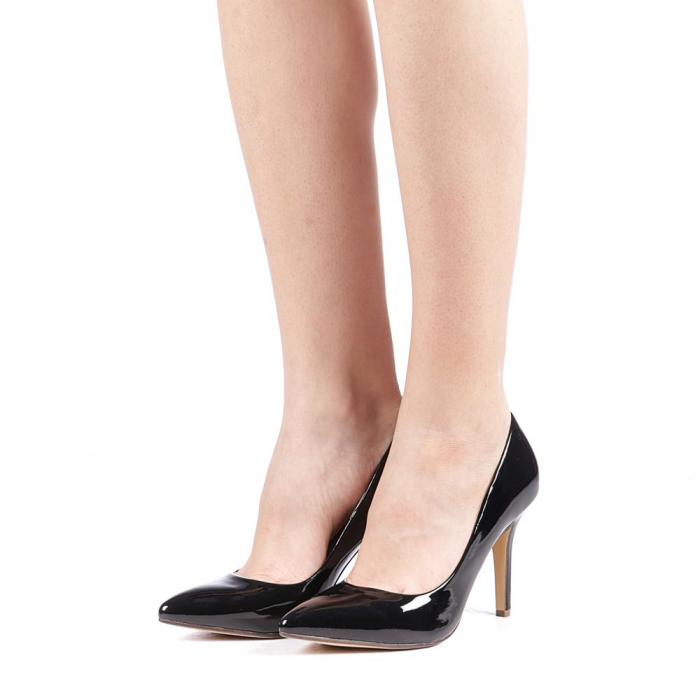 Pantofi dama Exoca negri 2