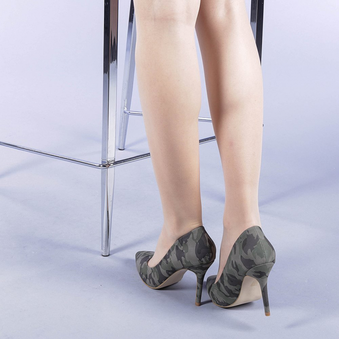 Pantofi dama Ginger verzi 3