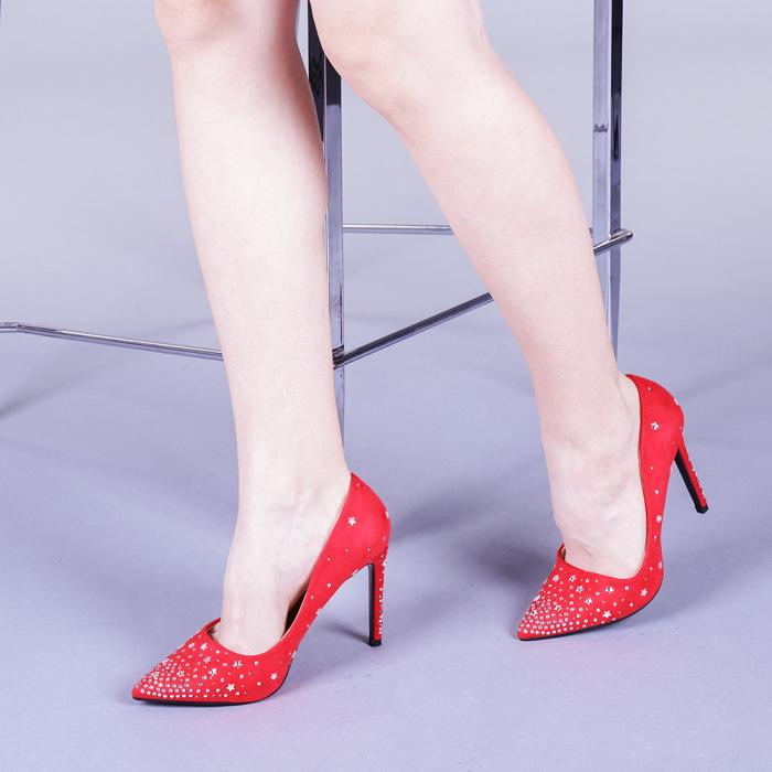 Pantofi dama Jasmine rosii 2