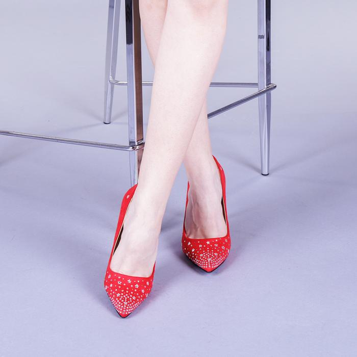 Pantofi dama Jasmine rosii 1
