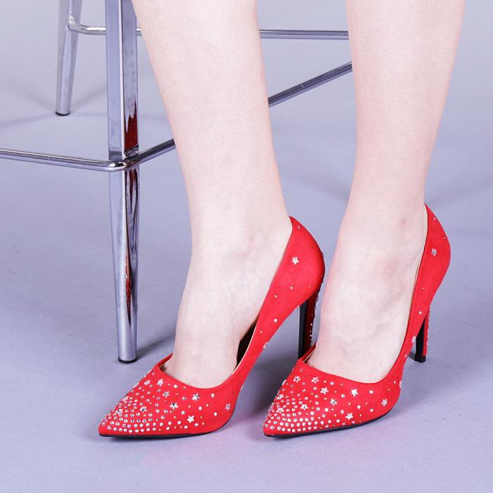 Pantofi dama Jasmine rosii 0