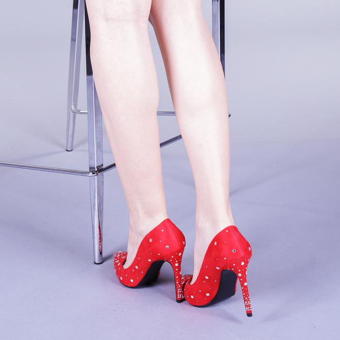 Pantofi dama Jasmine rosii 3