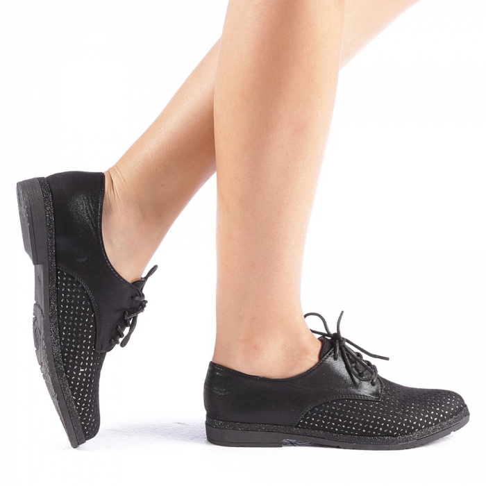 Pantofi dama Katie negri 0