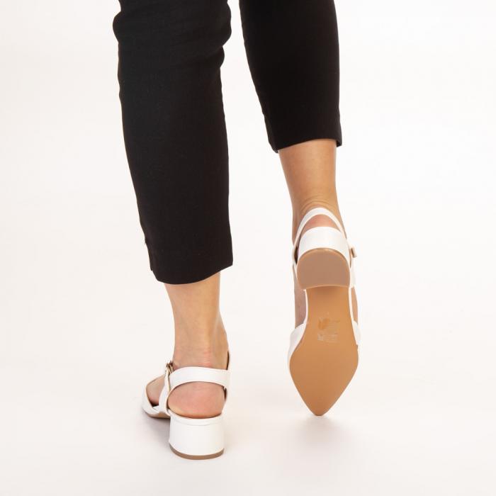 Pantofi dama Leela albi 3