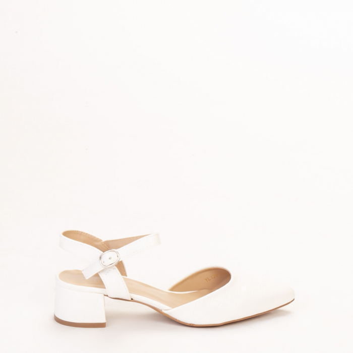 Pantofi dama Leela albi 0