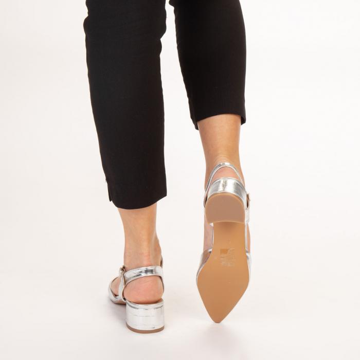 Pantofi dama Leela argintii 3