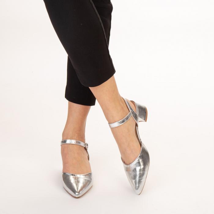 Pantofi dama Leela argintii 1